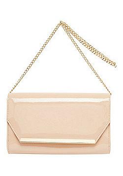 F&F Patent Envelope Clutch Bag