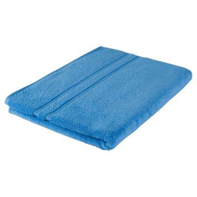 Tesco 100% Combed Cotton Bath Sheet Cotton Blue