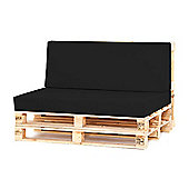 Water Resistant Pallet Large Back Cushion - Black