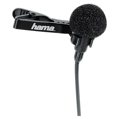 Hama LM-09 Clip-On Omnidirectional Microphone - Black