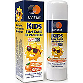 Uvistat Kids Suncare Lipscreen Balm Stick SPF50 5g-Orange Flavour
