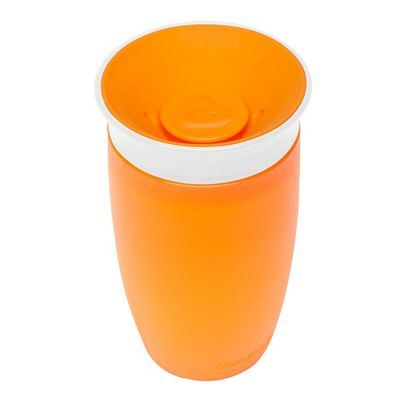 Munchkin Baby Miracle Non-Spill 360° Seal Proof Valve Toddler Sippy Cup 296ml Orange