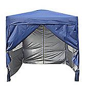 2x2m Pop-up Gazebo Waterproof Outdoor Garden Marquee With sides (Blue)