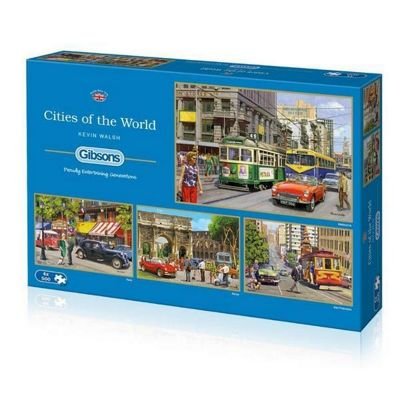 Cities of the World - 4 x 500pc Puzzle