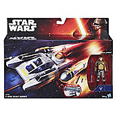 Star Wars Rebels Y-Wing Scout Bomber with 3.75 Inch Kanan Jarrus Action Figure - Toys/Games
