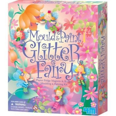 Make Your Own Fairy Fridge Magnets - Mould and Paint Glitter Fairy