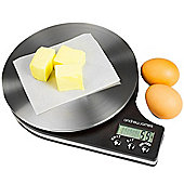 Andrew James Digital Kitchen Scales - Weight in Grams & Ounces - Black