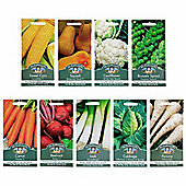 Mr Fothergill's Seeds - Grow Your Own Autumn Harvest Vegetable Collection - 9pc Multipack