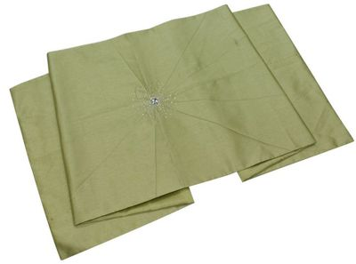 Pistachio Diamante Starburst Bed Runner Bedding Decoration