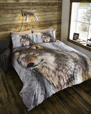 Wolf duvet cover & pillowcase sets - single