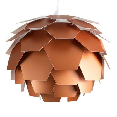 Artichoke Style Ceiling Pendant Light Shade, Copper