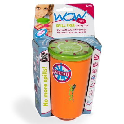 Wow Cup Spill Free Drinking Cup *ORANGE*