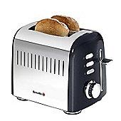 Breville VTT504 Aurora 2 Slice Stainless Steel Toaster - Black