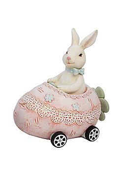 Bunny in Easter Egg Car Money Box