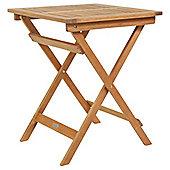 Charles Bentley Hardwood Square Foldable Patio Table