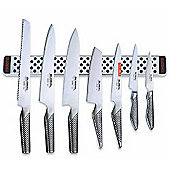 Global 30th Anniversary G-2395113638/M40 8 Piece Knife Block Set With Magnetic Rack