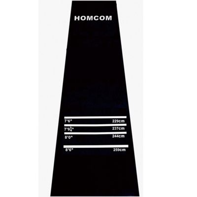 Homcom Professional Rubber Dart Mat with 4 Throwing Distances