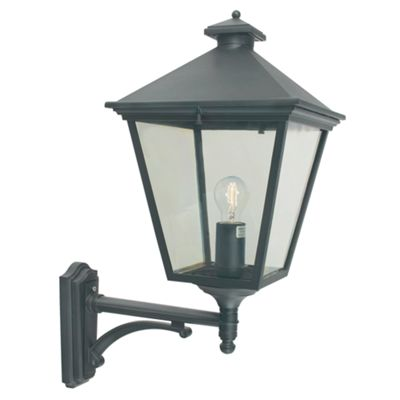 Black Up Wall Lantern - 1 x 100W E27
