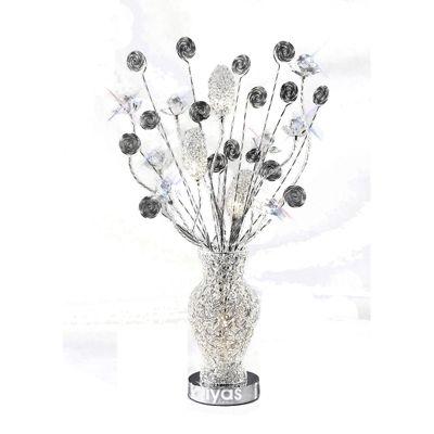 Nevada 4 Light Aluminium/Black Table Lamp, 4*G4