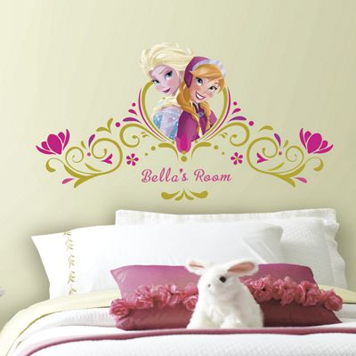 Disney Frozen Personalised Springtime Headboard Stickers