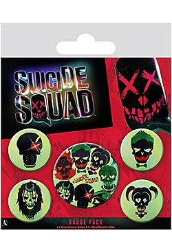 Suicide Squad Skulls Badge Pack 10x12.5cm - Multi
