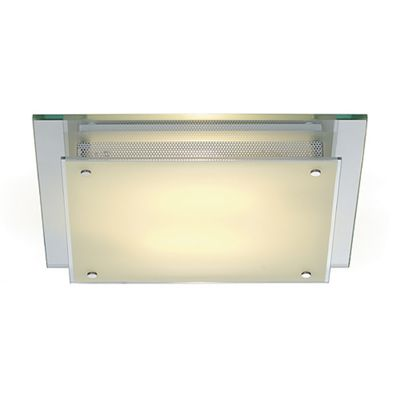 Glassa Square Ceiling Light Stained Glass Downlight 2X 26W
