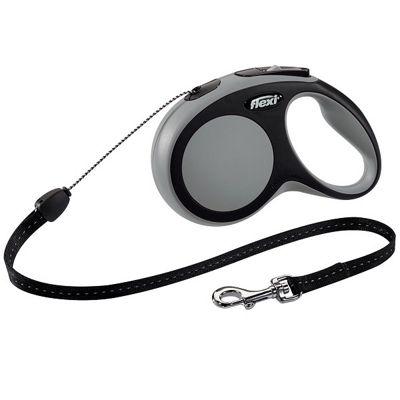 Flexi Comfort Cord Retractable Lead 8m - Small - Grey