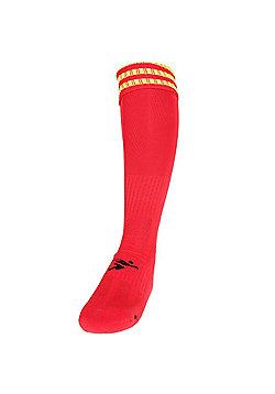 Precision Training 3 Stripe Pro Football Socks - Red & Yellow