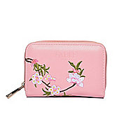 Pink Blossom Embroidered Purse