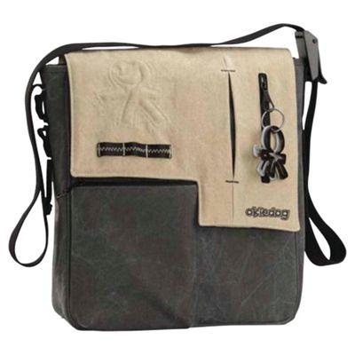 Okiedog Yukon Paige Changing Bag, Black/Beige
