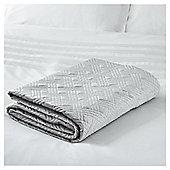 Fox & Ivy Grey Velvet Bedspread