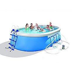 "Bestway Oval Frame Inflatable Pool 10ft x 16ft x 42"" - 56447"