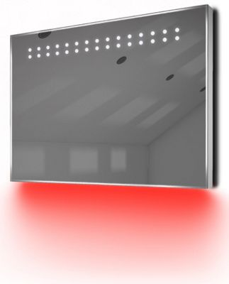 Ambient Ultra-Slim LED Bathroom Mirror With Demister Pad & Sensor K12R