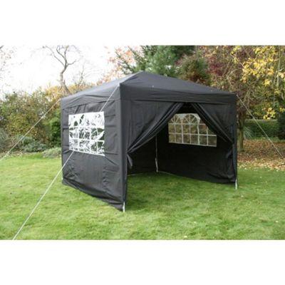 Airwave Pop Up Gazebo Fully Waterproof 3x3m in Black