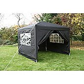 Airwave Pop Up Gazebo Fully Waterproof 3x3m in Black