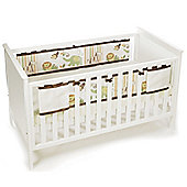 BreathableBaby Mesh Cot Liner Safari Fun