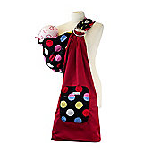 Palm and Pond Ring Sling Baby Carrier - Large Multi Spots on Black