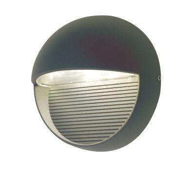 Lutec Radius SP R Round Aluminium Wall Light