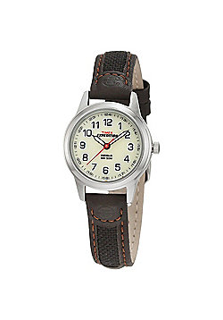 Timex Women's T41181 Expedition Scout Watch│Leather & Nylon Strap│Night Light│