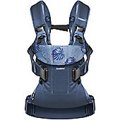 BabyBjorn Baby Carrier One (Midnight Blue/Leaf Print)