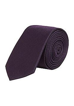 F&F Textured Skinny Tie - Purple