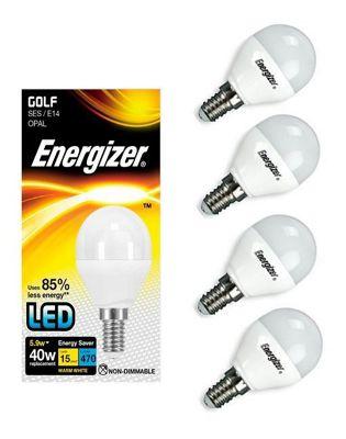 4x Energizer E14 SES Golf LED Light Bulb Warm White