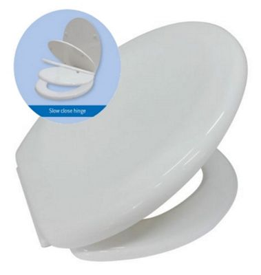 Prima Lightweight Soft Slow Close Hinge Wrapover Toilet Seat