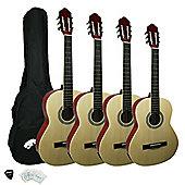 Tiger Natural 1/4 Classical Guitar Pack