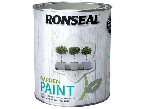 Ronseal RSLGPSL25L 2.5 Litre Garden Paint - Slate