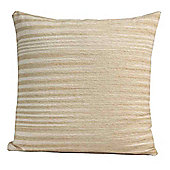 Homescapes Cotton Chenille Tie Dye Beige Scatter Cushion, 60 x 60 cm