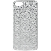 Tortoise™ Soft Protective Case, iPhone 5/5S.Silver Damask Print