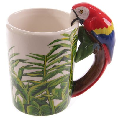 Puckator Jungle Explorer Mug, Macaw Parrot