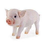 Realistic Pink Piglet Resin Garden Ornament