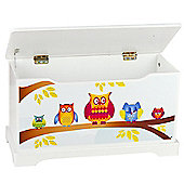 Leomark Owls Wooden Toy Box